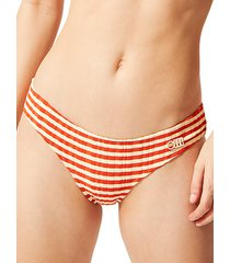 the elle striped bikini bottom