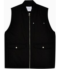 mens black michigan vest