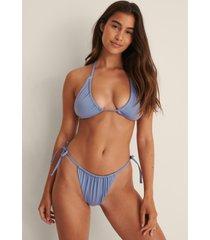 na-kd swimwear recycled drawstring tie side bikini panty - blue