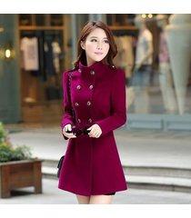 women ladies warm korean long coat winter jacket trench overcoat outwear