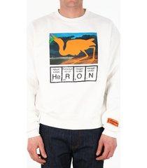 heron preston heron print sweatshirt