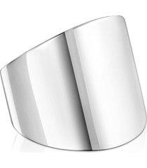 anillo basics liso de plata plateado tous