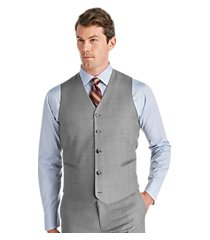 traveler collection slim fit solid men's suit separate vest by jos. a. bank