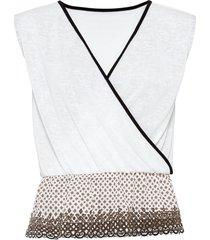 maglia a portafoglio (bianco) - bodyflirt