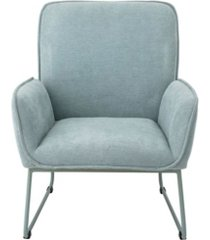 bloomingville mint green upholstered chair with matching powder coated metal legs