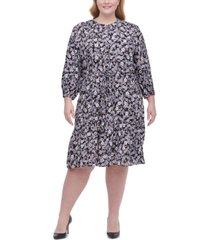 tommy hilfiger plus size floral-print fit & flare dress