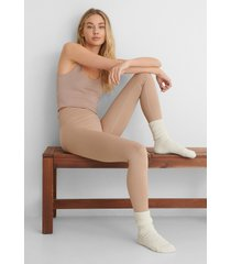 mango leggings - nude