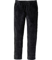 pantaloni in velluto con elastico regular fit tapered (nero) - rainbow