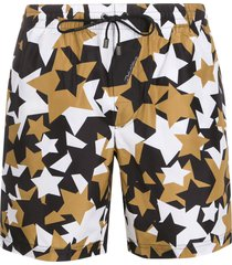 dolce & gabbana star print swim shorts - black