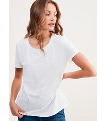 t-shirt lino crochet
