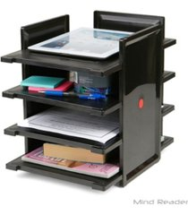 mind reader 4 tier desktop document and folder tray organizer