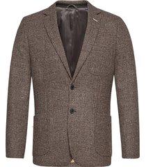 d2. slim tweed blazer blazer kavaj grå gant