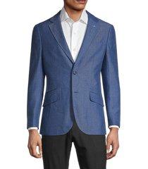 tailorbyrd men's chevron regular-fit jacket - navy - size 42 r