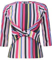 blusa cruce en frente color negro, talla 10