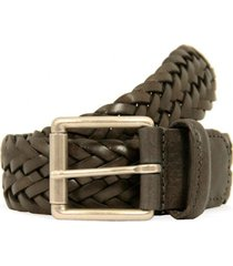 anderson's belts braided leather belt | silver brown | 1097g1