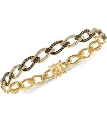 le vian chocolatier diamond link bracelet (2-1/4 ct. t.w.) in 14k gold