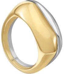 alfani two-tone split square ring, created for macy's