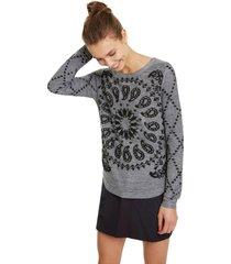 sweater desigual gris - calce regular