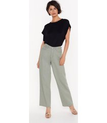 womens searched far and wide-leg denim jeans - sage