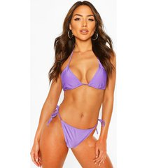 basic triangle bikini, lilac
