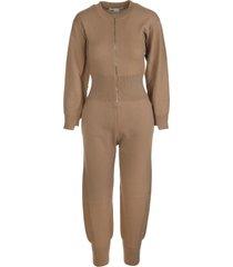 stella mccartney camel wool jumpsuit