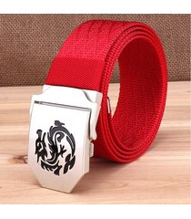 cinturón de hombres, cinturón de nylon versátil-rojo