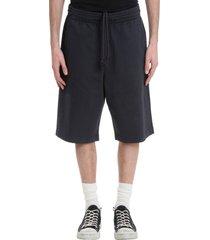 acne studios ross print shorts in black cotton