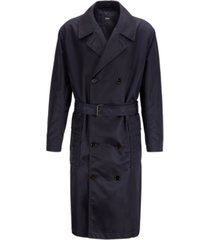 boss men's loup relaxed-fit water-repellent belted coat