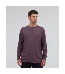 camiseta comfort em algodão peruano manga longa básica | marfinno | roxo | p
