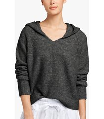 cashmere boucle cropped hoodie
