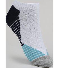 meia masculina selene sapatilha esportiva cano curto branca