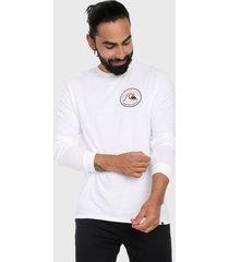 camiseta manga blanco-negro-naranja quiksilver close call