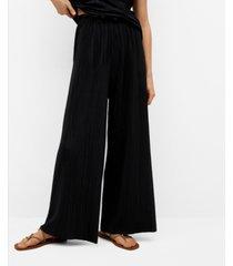 mango women's pleated flowy pants