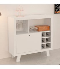 bar adega 1 porta 8 nichos branco ad5002  - tecno mobili