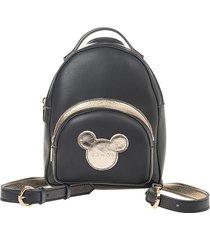 mini plecak maliv czarno-złoty