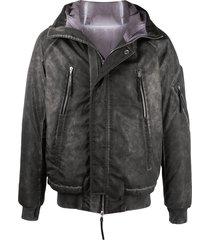11 by boris bidjan saberi washed padded jacket - grey