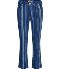 mos mosh simone stripe jeans blå stripe