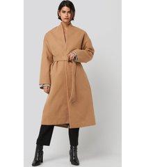 na-kd classic classic long coat - beige
