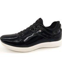 calçado masculino sapatênis em couro kéffor cor preto linha sevilha