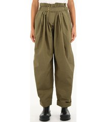 balmain wide high-waisted trousers