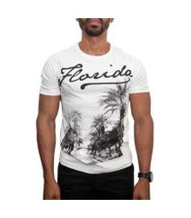 camiseta canal surf manga curta flórida masculina