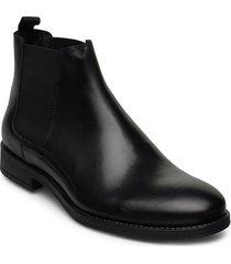 jfwjason leather chelsea anthracite shoes chelsea boots svart jack & j s