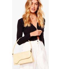 womens want croc of our list shoulder bag - beige
