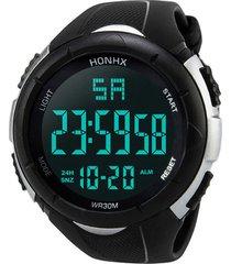 reloj digital hombres led militar deportivo 248 negro blanco