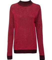 maglione con bordi a contrasto (rosso) - rainbow