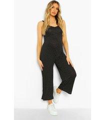 zwangerschap culotte jumpsuit met stippen, black