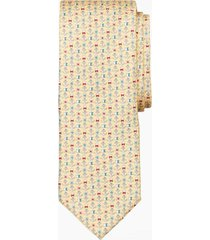 corbata nautical motif amarillo brooks brothers