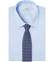 cravatta su misura, lanieri, ravenna seta blu, quattro stagioni | lanieri