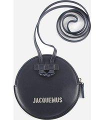 jacquemus le pitchou round leather purse