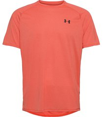 ua tech 2.0 ss tee novelty t-shirts short-sleeved orange under armour
